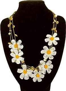 Crochet Daisy Choker Necklace