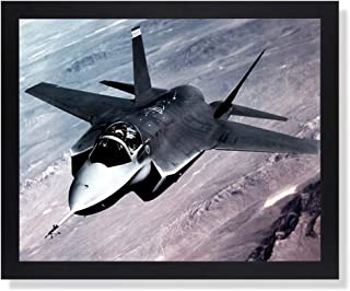 X-35 Joint Strike Fighter Jet Aircraft Airplane Picture Black Framed Art Print