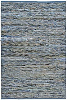Earth First Jeans Rug, 30-Inch by 50-Inch, Blue