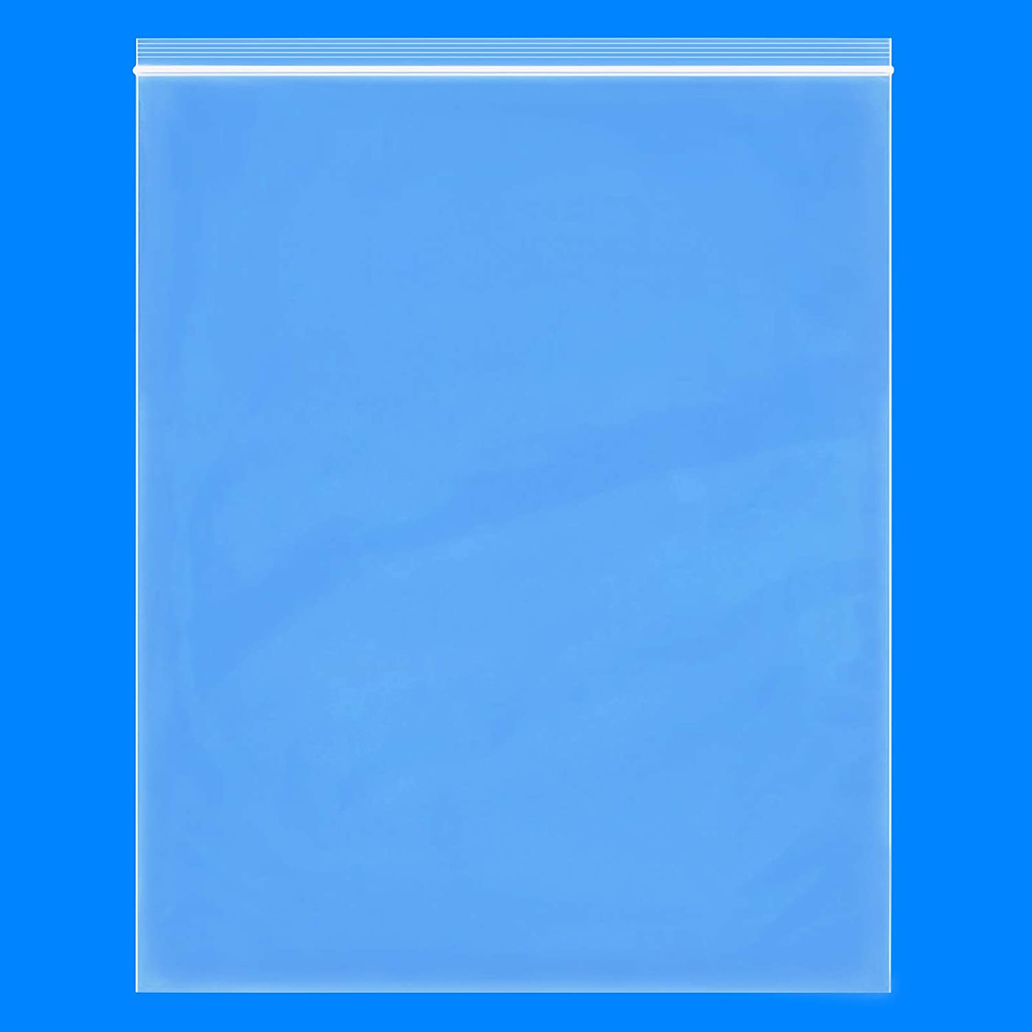 """Spartan Industrial 2 Mil Clear Reclosable Zip Plastic Poly Bags with Resealable Lock Seal Zipper 14/"""" X 20/"""" 100 Count"""