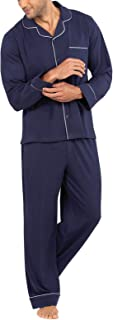 PajamaGram Classic Mens Pajamas Cotton - Men Pajamas Set