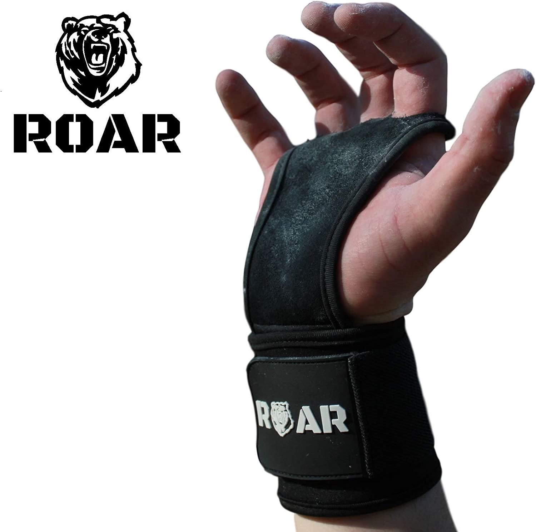 Roar® Calleras para Gimnasio Hombre, Calleras Mujer, Guantillas Gimnasio, Calleras Gimnasia artistica, Hand Grips, Callera Calistenia,Cuero Sintético, Grip Gloves, Cayeras dominadas.