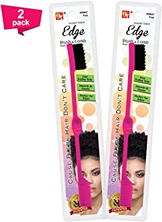 Hair Edge Brush Double Sided Comb - Baby Hair Controller Eyebrow Styling Tool Gentle Easy Grip Soft Boar Bristle Beauty Pe...