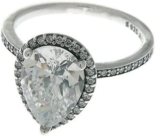 Radiant Teardrop Ring, Clear CZ 196251CZ-48 EU 4.5 US