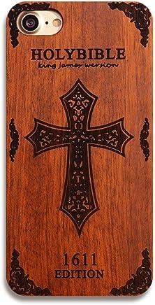 Nameo iPhone 7Plus Wood case, super slim in legno naturale e custodia rigida con PC Cover per Apple iPhone 7Plus Cross