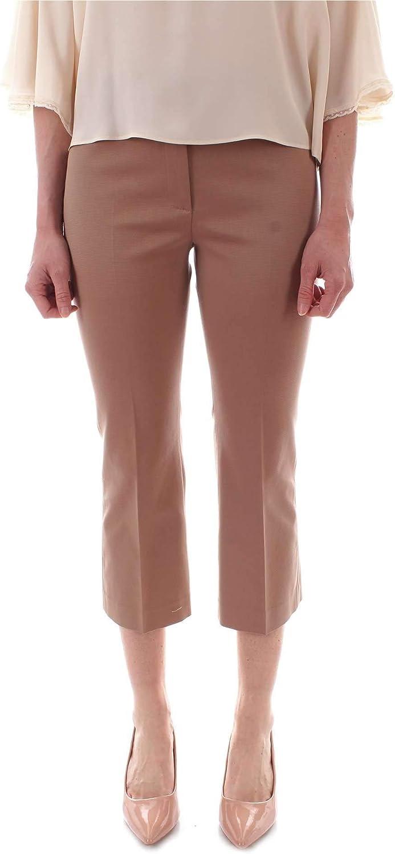 PESERICO Women's P0477306494BEIGE Beige Cotton Pants