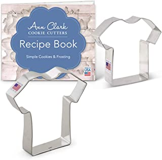 Ann Clark Cookie Cutters 2-Piece T-Shirt/Jersey Cookie Cutter Set with Recipe Booklet