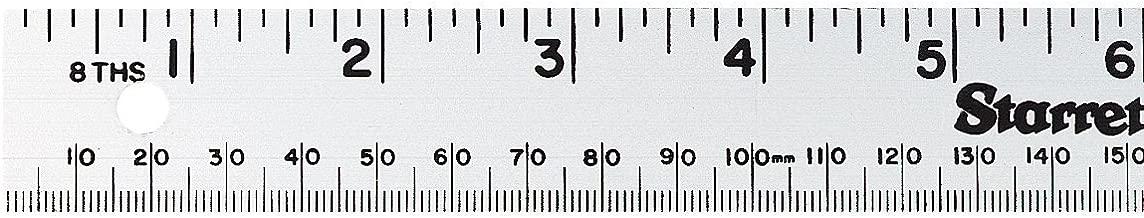 Starrett MS-2 Aluminum Straight Edge Meter Stick, 39.37