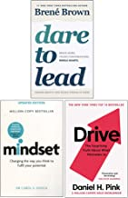 Dare to Lead, Mindset, Drive Daniel Pink 3 Books Collection Set