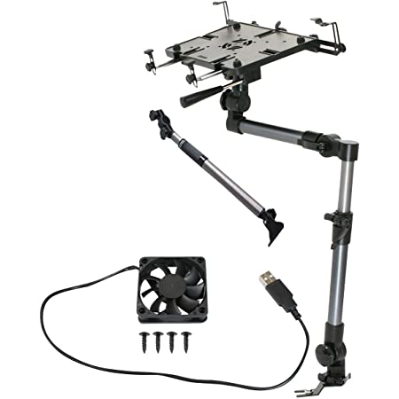 Amazon Com Mobotron Ms 526 Heavy Duty Laptop Mount Screen Stabilizer Cooling Fan Supporting Brace Computers Accessories