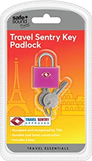Safe and Sound Travel Sentry Luggage Padlock Colour received will vary, 4 cm, Assorted