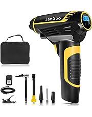 JanGoo 電動エアコンプレッサー エアコンプレッサー 空気入れ 2200AM電池 コードレス 携帯便利 LEDライト付き タイヤ 車 自動車 自転車 ロードバイク ボール 浮輪適用 日本語取扱説明書付き