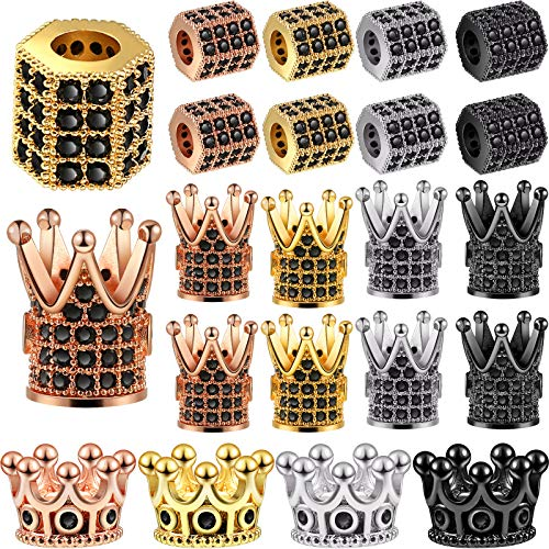 20 Pieces King Crown Charms Beads H…