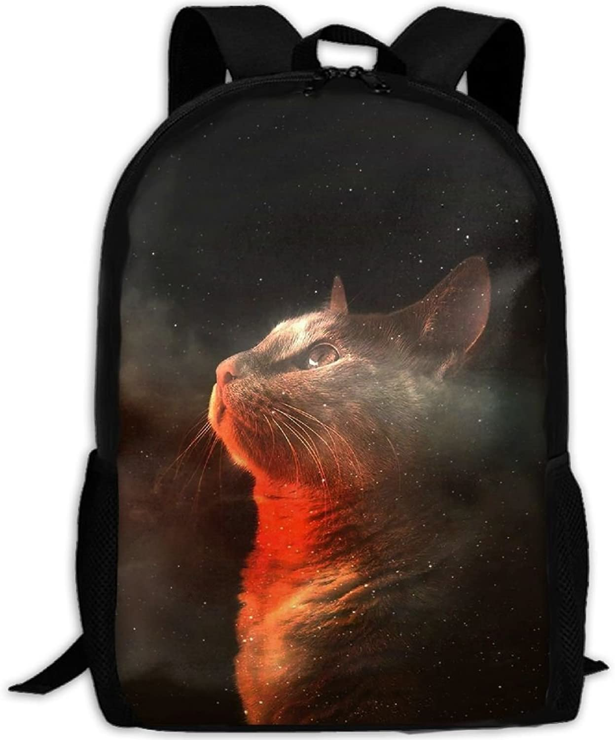 Backpack Laptop Travel Hiking School Bags Cat Space Daypack Shoulder Bag