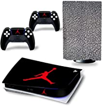 PS5 Console and Controller Skin Vinyl Sticker Decal Cover for PlayStation 5 Console and Controllers, Disk Edition -Jordan ...