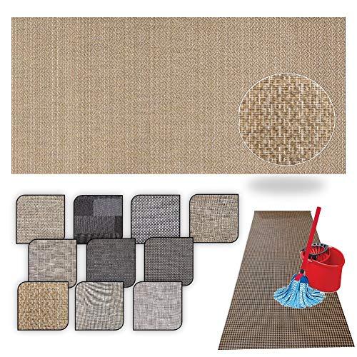 Tappeto passatoia Cucina Lavabile Lucy - antimacchia e Antiscivolo aderisce Perfettamente a Terra Non Piega Si pulisce con straccio - tappeti casa Moderno (50X240, 66)