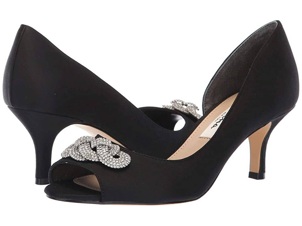 Nina Madolyn (Black Satin) High Heels
