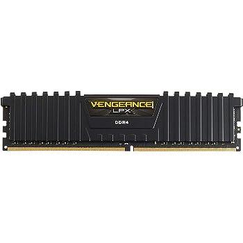 CORSAIR Vengeance LPX 16GB (2x8GB) DDR4 DRAM 2400MHz C14 Memory Kit - Black (CMK16GX4M2A2400C14)