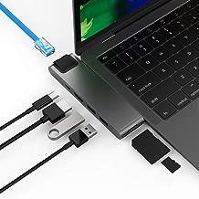 Sinstar 7 in 2 Type C Combo Hub USB C Adapter Compatible Macbook Air 2018/MacBook Pro 2016-2019,Thunderbolt 3 40gb/s,USB-C Power Delivery,Gigabit Ethernet,SD/TF Card Reader,HDMI 4K@30Hz,USB 3.1 (Grey)