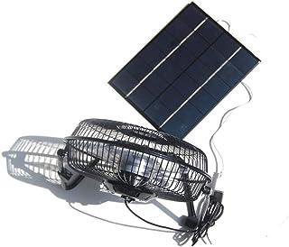 NUZAMAS 5,2 W 6 V Panel solar alimentado grande 8 pulgadas ventilador para camping caravana yate invernadero casa perro pollo casa ventilador