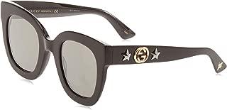 Gucci Women's Sunglasses Round GG0208S Black/Grey