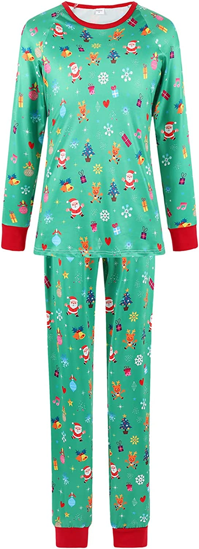 Merry Christmas Pajamas for Family Long Sleeve Suit Home Sets Christmas PJ's Sleepwear Couples Sleepwear Set