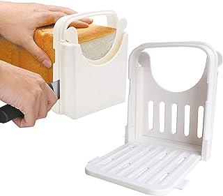 Fastwolf Bread Slicer,Adjustable Toast Slicer Toast Cutting Guide for Homemade Bread,Foldable Bread Toast Slicer Bagel Loa...