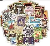50 PCS Retro Stamp Stickers To...