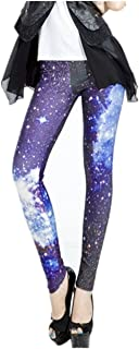 Funky Print Leggings for Women Galaxy Floral Tribal Sexy Smooth Crazy Patterned Pants Slimming Girls