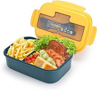 G.a HOMEFAVOR 1100 ML Boîte à Déjeuner, Contenant de Préparation avec 2 Compartiments, Boîtes à Repas Bento étanches avec ...