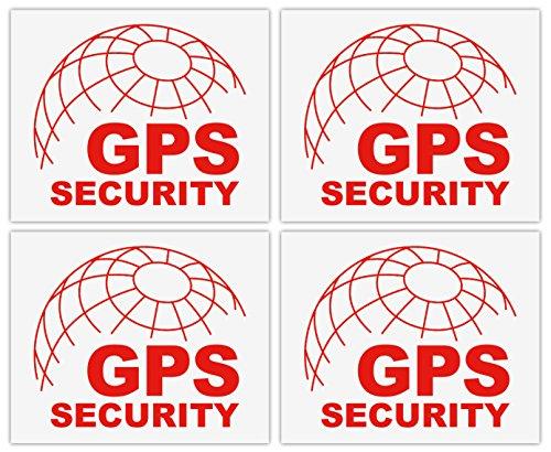 4x GPS WARNING Aufkleber 55x45 mm   ORTUNG GPRS SECURITY ALARM   Scheibenaufkleber transparent seitenverkehrt rot   Sicherheit Einbruchschutz Objektschutz Anti Theft Schutz Sicherung Auto KFZ PKW LKW