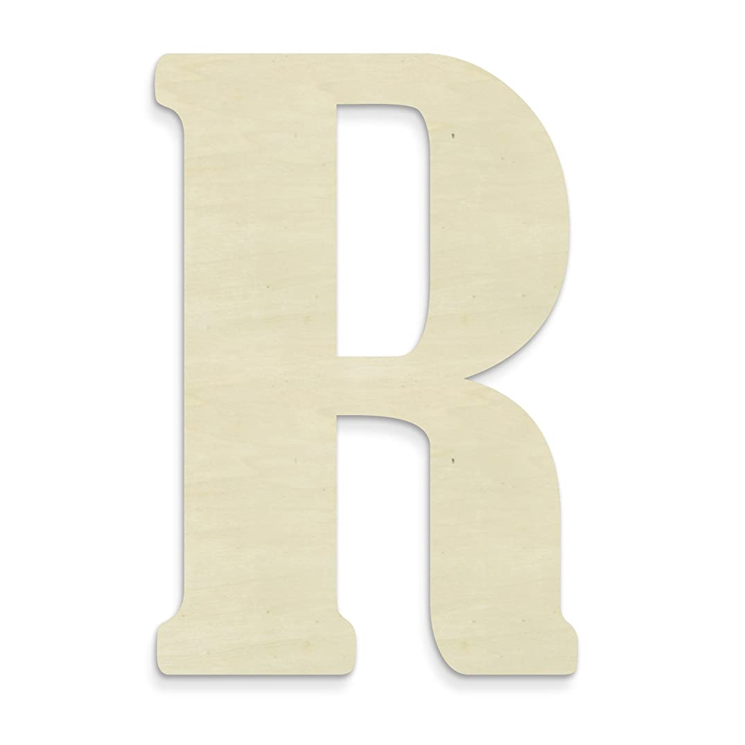 UNFINISHEDWOODCO Unfinished Wood Letter, 15-Inch, Monogrammed R, Large
