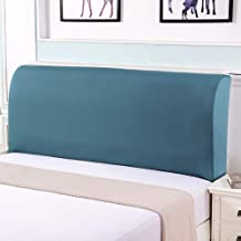 Headboard Slipcover, Headboard Cover Stretch Dustproof Solid Color Bed Head Covers Bedside Bedroom Decorative Protector fo...