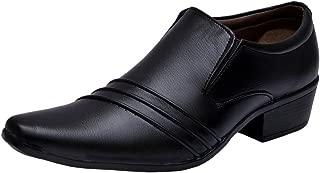 Sir Corbett Men's Black Synthetic Formals Shoes
