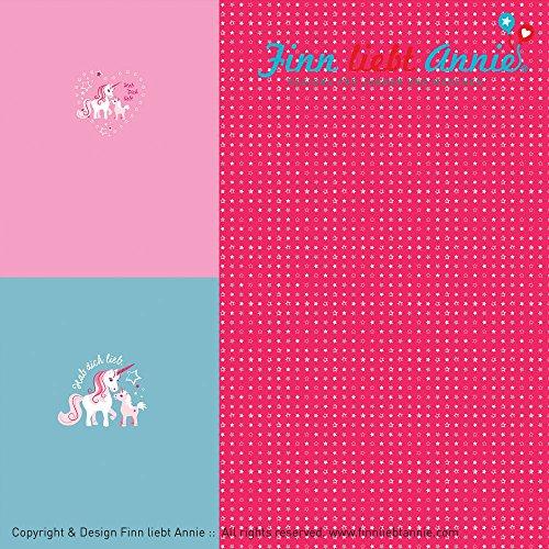 Finn liebt Annie Jersey Kinderstoff Glückssterne Panel 0,84m x 160cm