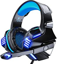 VersionTECH. Gaming Headset for PS5/ PS4/ Xbox One/PC, Noise Canceling Over-Ear Headphones with Mic, LED Lights & Volume C...