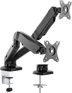 """AVLT Dual 13""""-27"""" Monitor Arm Desk Mount fits Two Flat/Curved Monitor Full Motion Height Swivel Tilt Rotation Adjustable Monitor Arm - VESA/C-Clamp/Grommet/Cable Management"""