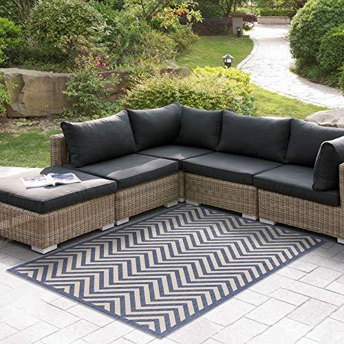 Msrugs Indoor/Outdoor Area Rug 9x12 Flatweave Collection