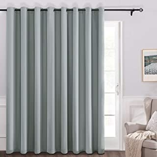 MIULEE Sliding Door Vertical Blinds 100% Blackout Room Divider Curtain Panel with Grommets for Balcony Bedroom Set of 1 100 W x 84 L Silver Grey