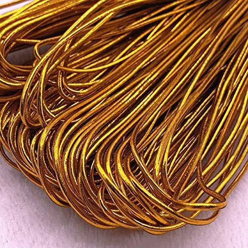 DANMO 5 Yardas 1,5 Mm Cuerdas de Cuerda de Embalaje de Plata Dorada para Manualidades de Embalaje Hechas a Mano