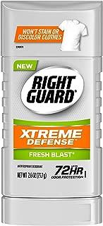 Right Guard Xtreme Defense Antiperspirant Deodorant Invisible Solid Stick, Fresh Blast, 2.6 Ounce