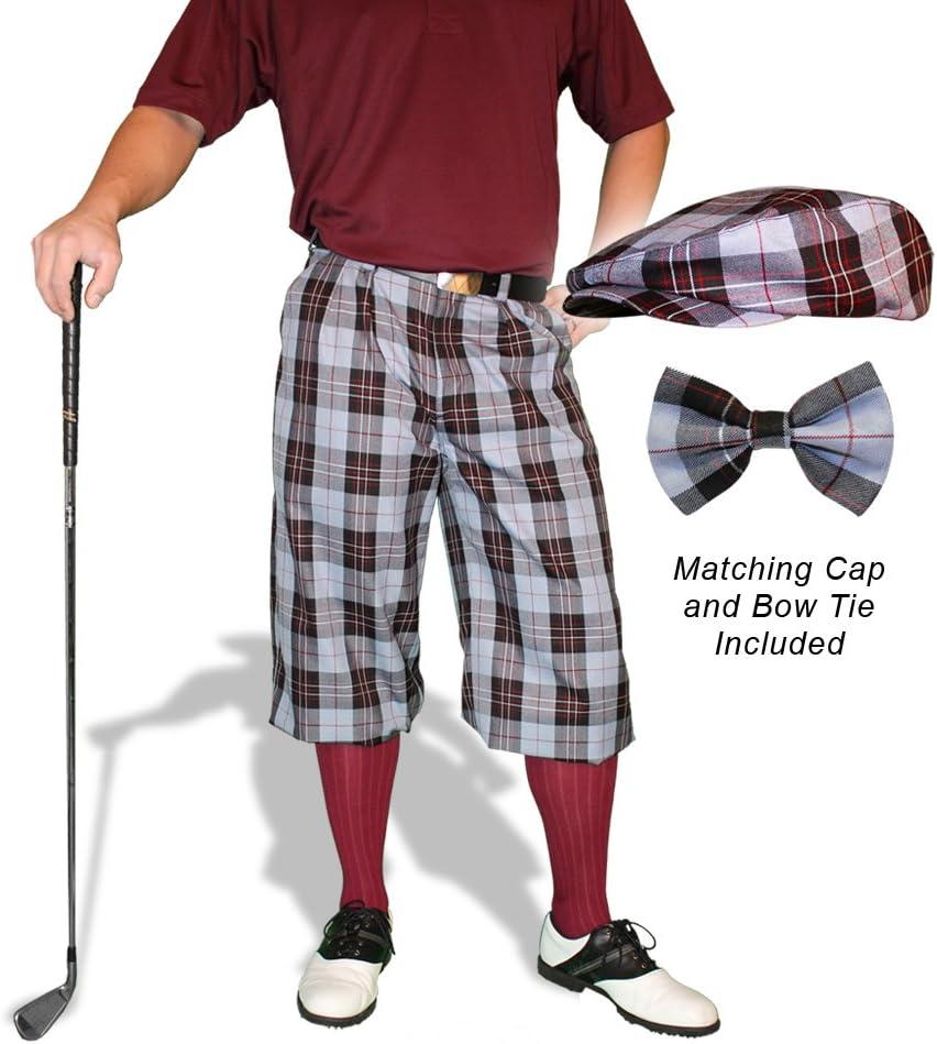 Golf Knickers Plaid Cap and Bow half 5' Max 63% OFF - Tie: 'Par Mens Boca