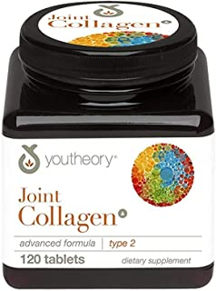 Youtheory Joint Collagen Advanced Nutritional Supplement Type 2-120 Tablets