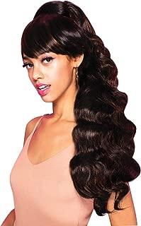 EVE HAIR Casablanca - 100% Heat Retardant Fiber 2 in 1 Bang & Ponytail - Bang Hair Extension with 27