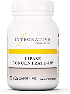 Integrative Therapeutics - Lipase Concentrate-HP – Fat Digestion* Enzyme – Keto and Paleo Friendly – Ideal for Diet High i...