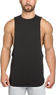 EU(イーユートレーニングタンクトップ 袖なし ジム用 シャツ スポーツ T-シャツ ブラック L