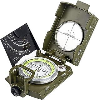 Boussole Compas Trekking Scout Militaire Prismatique à Bain d'huile Niveau Bulle