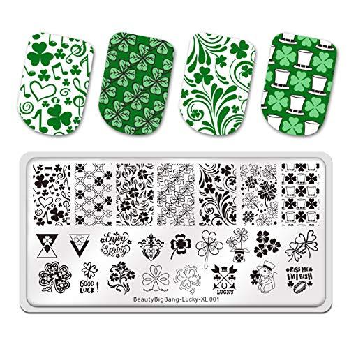 St. Patricks Day Nail Art Stamping Plates Shamrock Manicuring DIY Nail Templates for Saint Patricks Day Nail Art Design