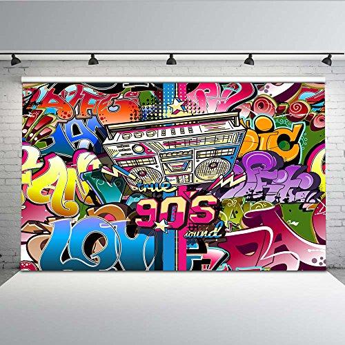 Mehofoto Hip Hop Graffiti Wand Hintergrund 7x5ft 90er Jahre Party abstrakte Kunst Foto Kulissen nahtlose Fotografie Hintergrund