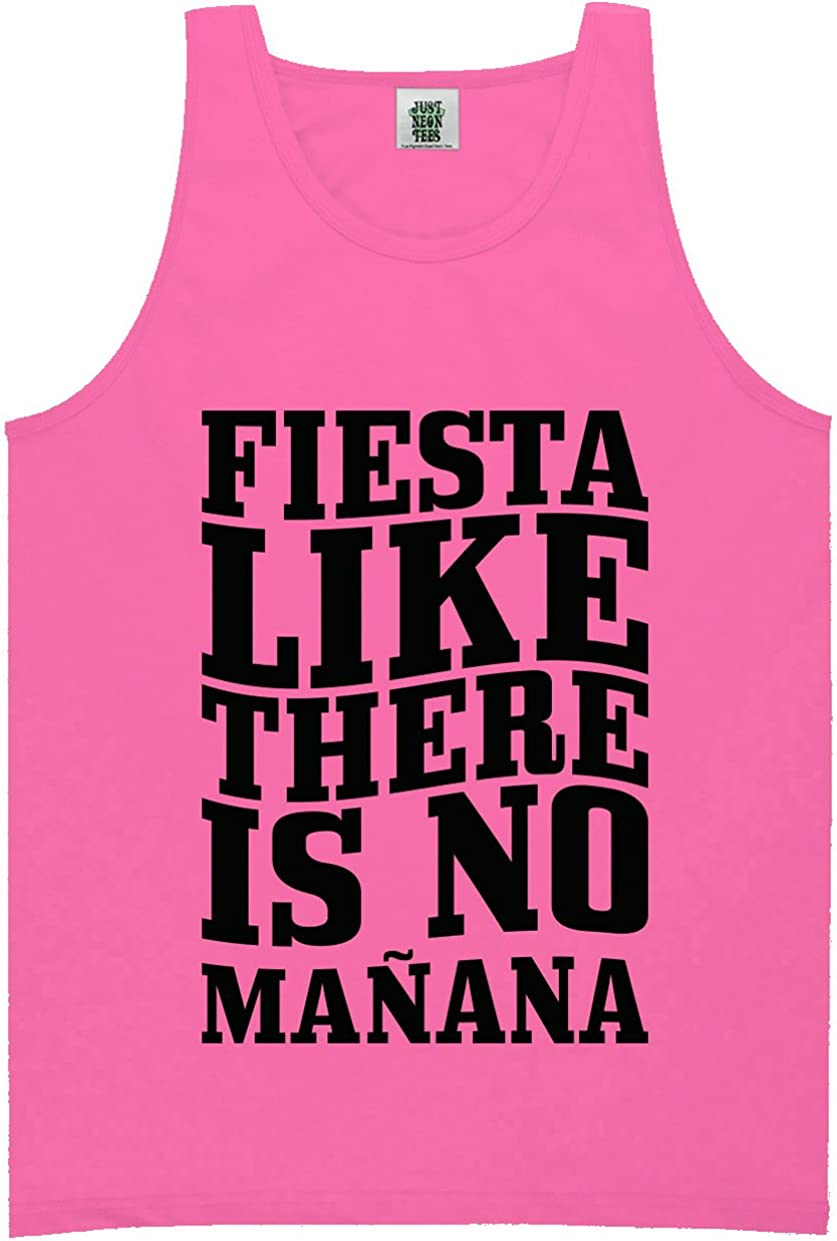Fiesta Like There is No Manana Bright Neon Tank Top - 6 Bright Colors